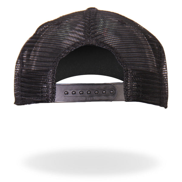 Hot Leathers PWA1006 Official Providence Cycle Worx Gray Patch Snapback Trucker Hat - Hot Leathers Hats and Caps