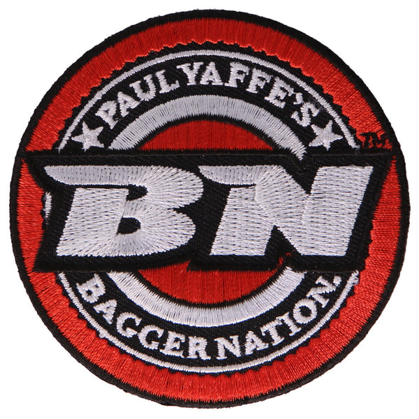 "Hot Leathers PYA1002 Official Paul Yaffe's Bagger Nation Coin 3"" Patch - Hot Leathers Patches"