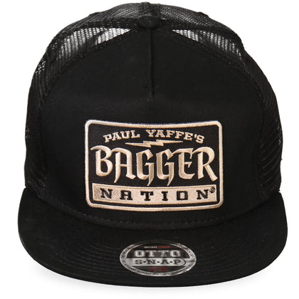 Hot Leathers PYA1010 Official Paul Yaffe's Bagger Nation MULTI Gothic Snapback Ball Cap - Hot Leathers Hats and Caps
