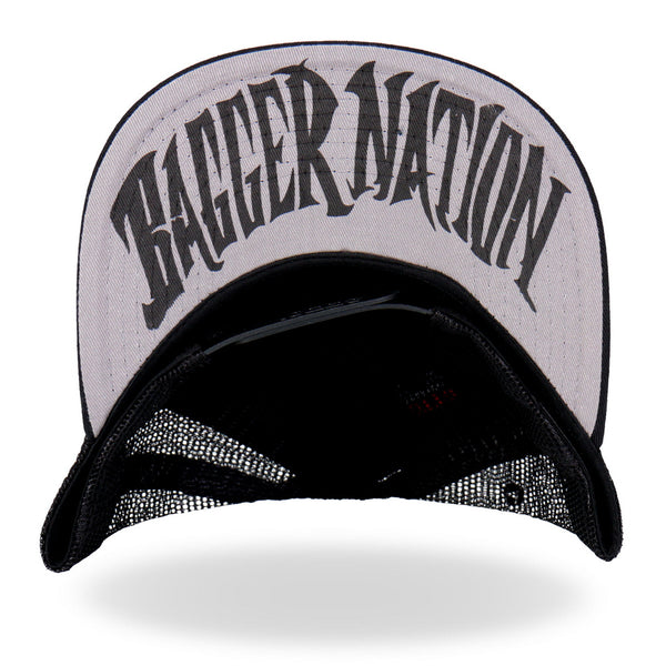 Hot Leathers PYA1012 Official Paul Yaffe's Bagger Nation Snapback Ball Cap - Hot Leathers Hats and Caps