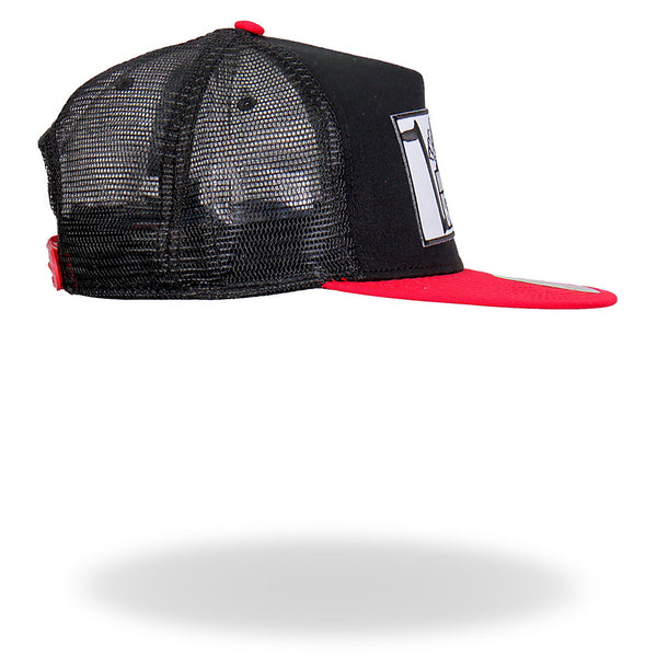 Hot Leathers PYA1024 Official Paul Yaffes Monkey Bars Hat Red Snapback - Hot Leathers Hats and Caps