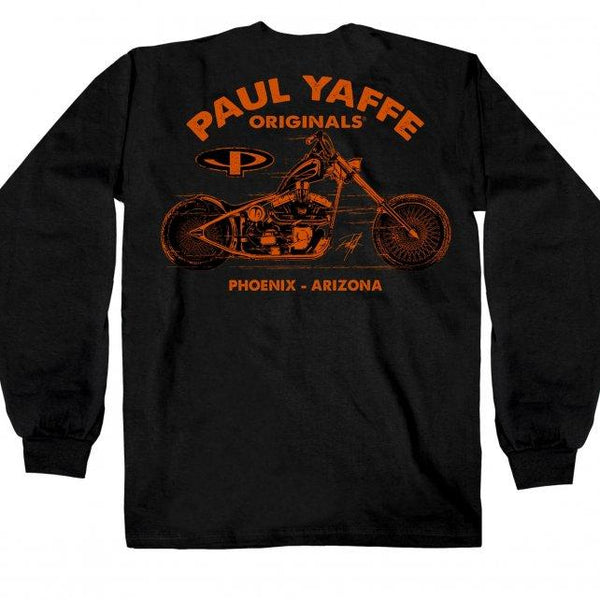 Official Paul Yaffe's PYM2042 Bagger Nation El Cadiente Long Sleeve - Hot Leather Mens Long Sleeve Printed Shirts