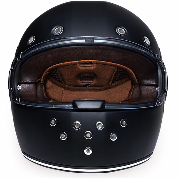 Daytona Helmets R1-B 'Retro' Dull Black with Dull Black Accents Full Face Helmet
