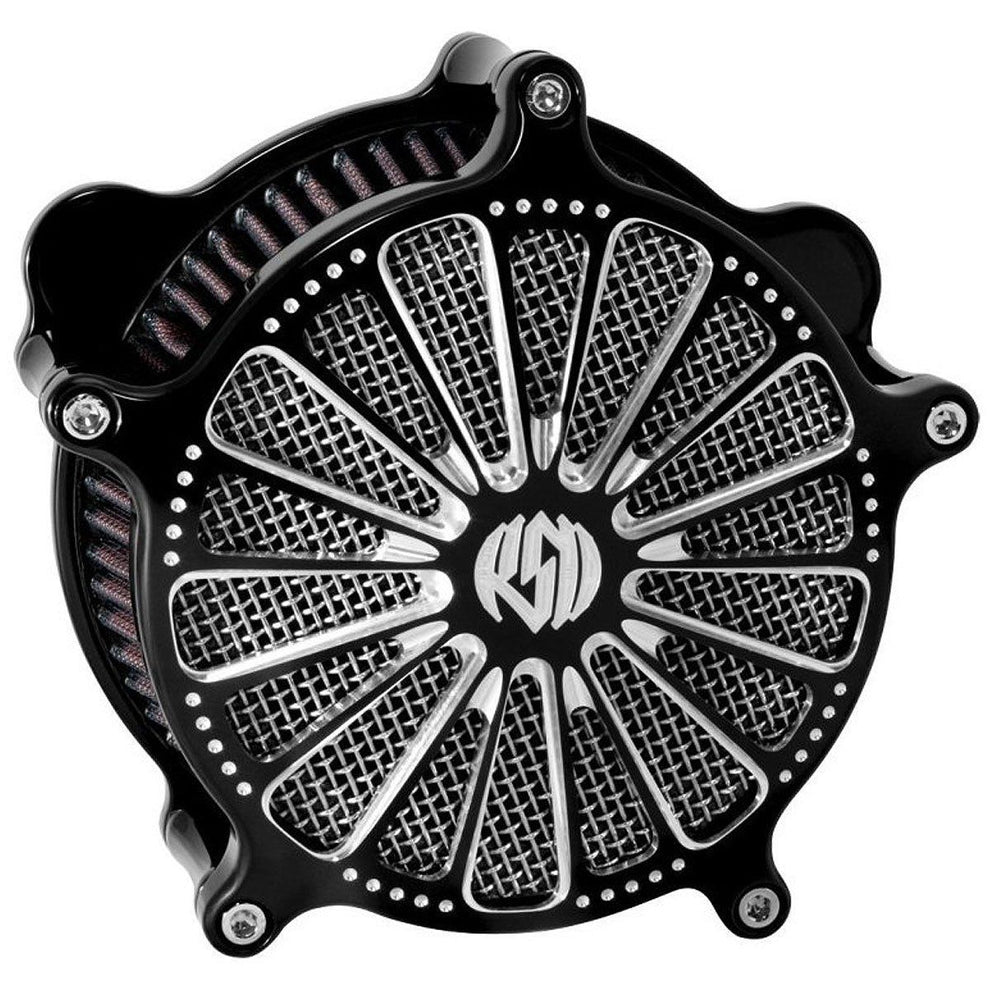Roland Sands Design Venturi Domino Contrast Cut Air Cleaner for Harley Davidson 2008-15 FLH/FLT models with Throttle By Wire