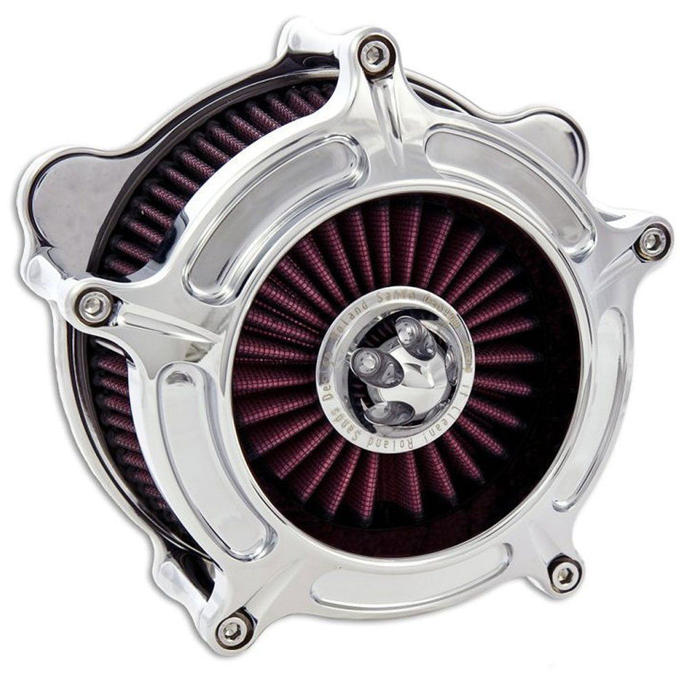 Roland Sands Design Turbine Chrome Air Cleaner for Harley Davidson 2008-15 FL models with Throttle By Wire
