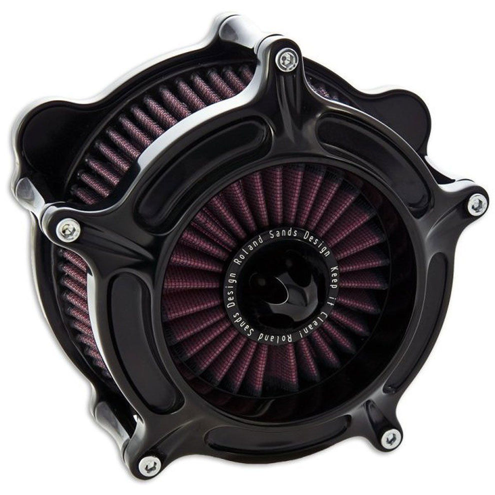 Roland Sands Design Turbine Gloss Black Air Cleaner for Harley Davidson 2008-15 FL models with Throttle By Wire