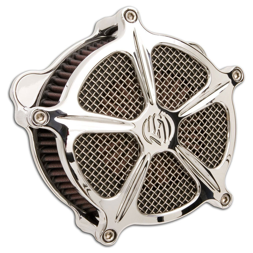 Roland Sands Design Venturi Speed 5 Chrome Air Cleaner for Harley Davidson 2008-15 FLH/FLT models with Throttle By Wire