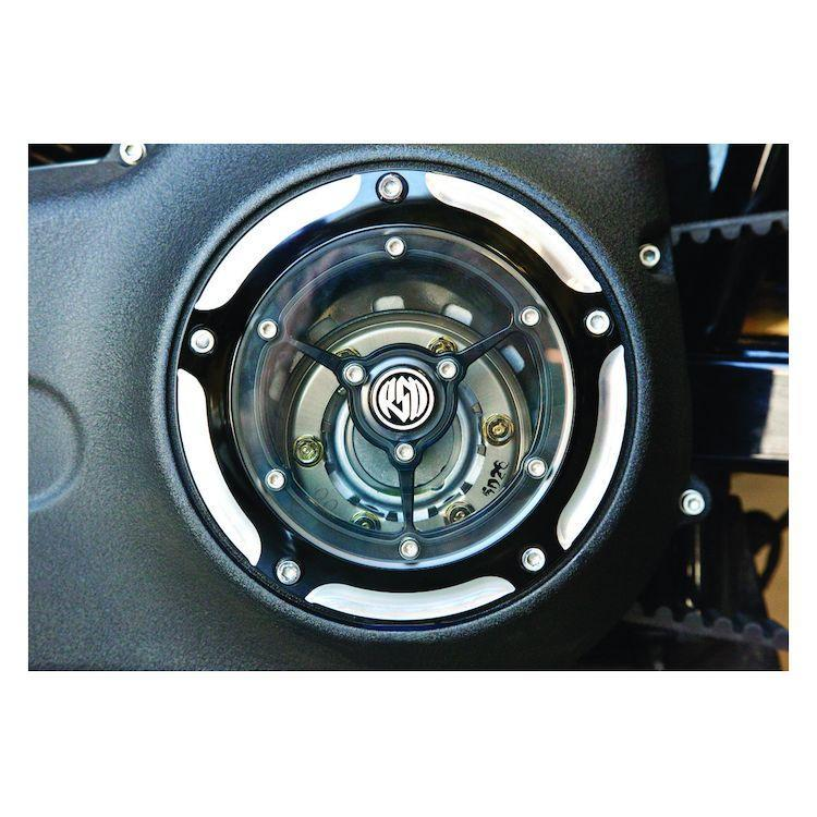 Roland Sands Design Clarity Chrome Derby Cover for Harley Davidson 1999-2014 Twin Cam models