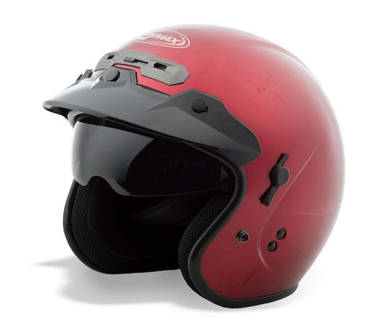 GMax GM32 Candy Red Open Face Helmet