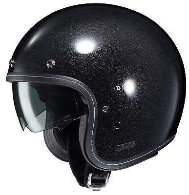 HJC IS-5 Metal Black Flake Open Face Helmet - N/A