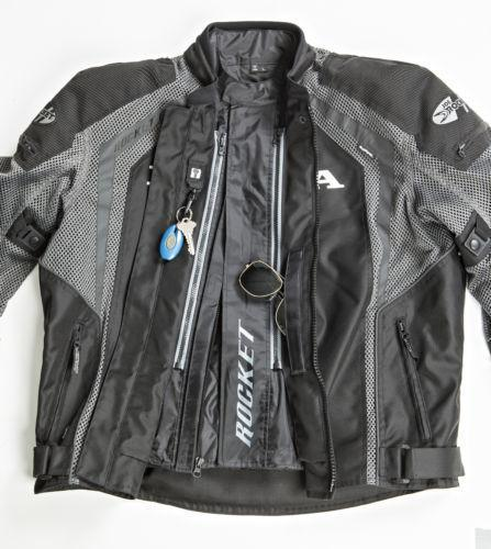 Joe Rocket Honda VFR Men's Black And Gunmetal Mesh Jacket - N/A