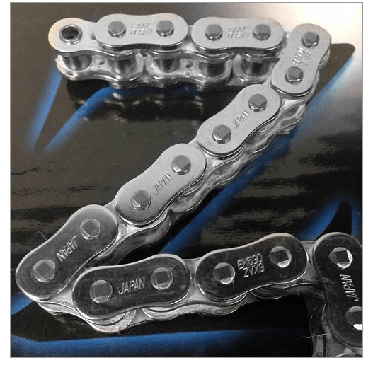 EK 3D Bike 530Z Series Chrome 120 Length Motorcycle Chain - N/A