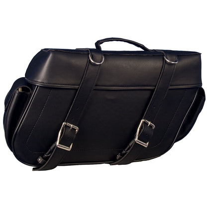 Hot Leathers SDA1002 Extra Large PVC Saddle Bags 16X11X6 - Hot Leathers Bags and Luggage