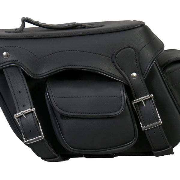 Hot Leathers SDA1004 Extra Large Saddle Bag with Concealed Carry Pocket 17X10X6 - Hot Leathers Bags and Luggage