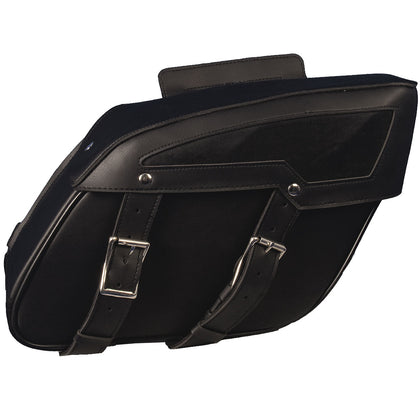 Hot Leathers SDC1004 Medium PVC Saddle Bags 13X10X5 - Hot Leathers Bags and Luggage