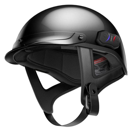 Sena Cavalry Black Bluetooth Half Helmet