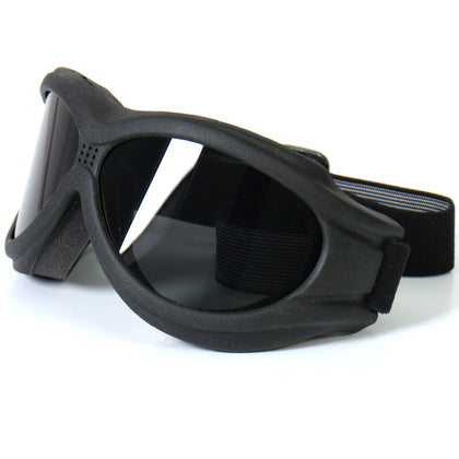 Hot Leathers SGG1001 Big Ben Riding Goggles with Smoke Lenses - Hot Leathers Eyewear
