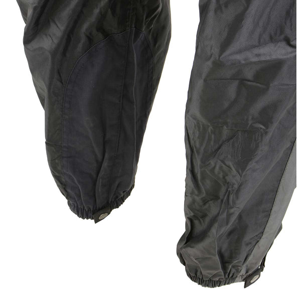 NexGen Ladies SH222503 Black and Grey Hooded Water Proof Rain Suit - NexGen Womens Rain Suits