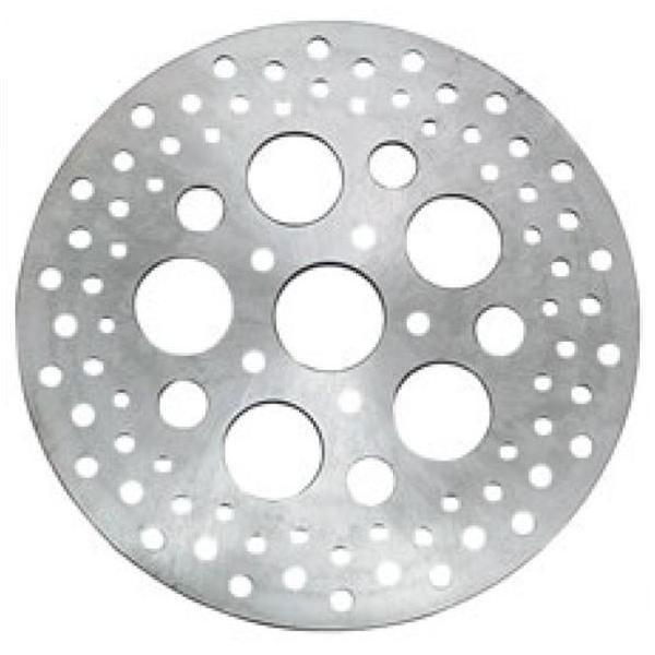 Bikers Choice Drilled Stainless Steel 11.5in Rear Brake Rotor for Harley Davids