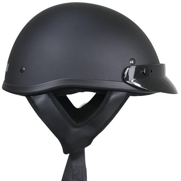 Outlaw T70 DOT Solid Flat Black Half Helmet