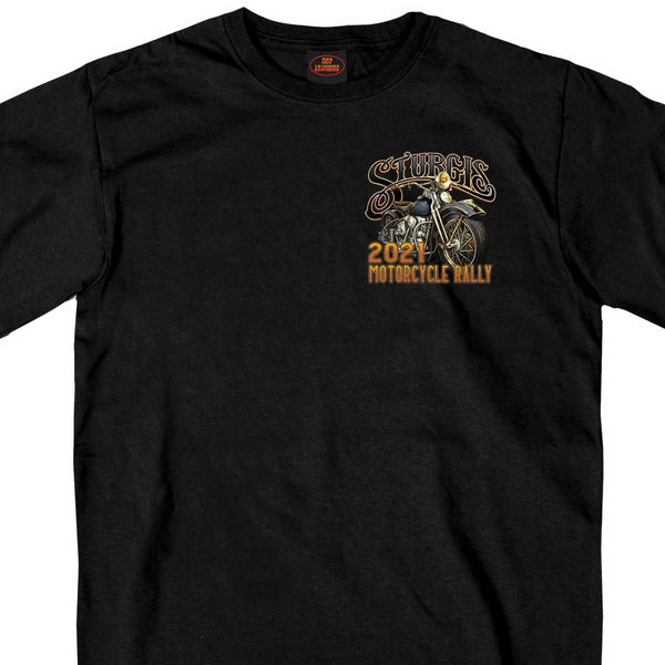 Official 2021 Sturgis Motorcycle Rally SPM1945 Men's Black Rushmore T Shirt