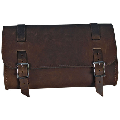 Hot Leathers TBC1011 Medium Distressed Brown Leather Tool Bag 10X6 - Hot Leathers Bags and Luggage