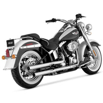 Vance and Hines Straightshots HS Chrome Slip-On Exhaust for Harley Davidson 2005-2014 FLSTN, 2008-2011 FLSTSB