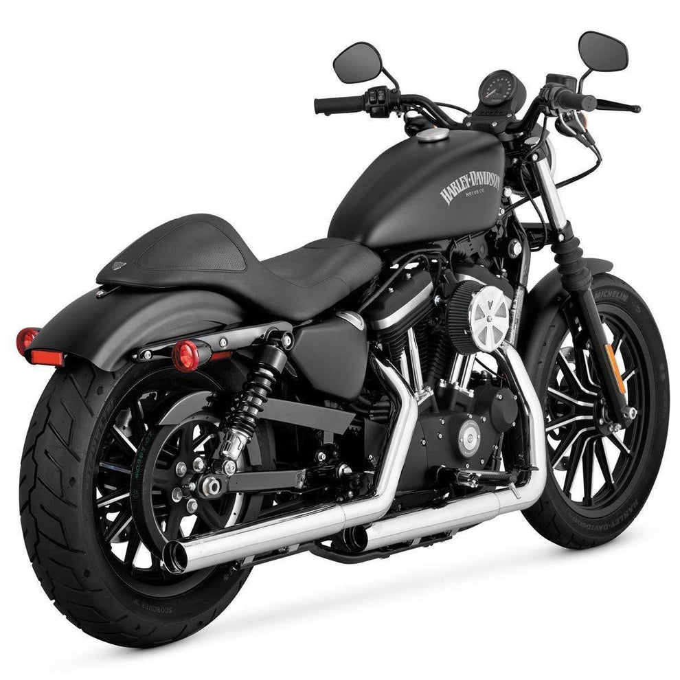 Vance and Hines Straightshots HS Chrome Slip-On Exhaust for Harley Davidson 2014 Sportster models