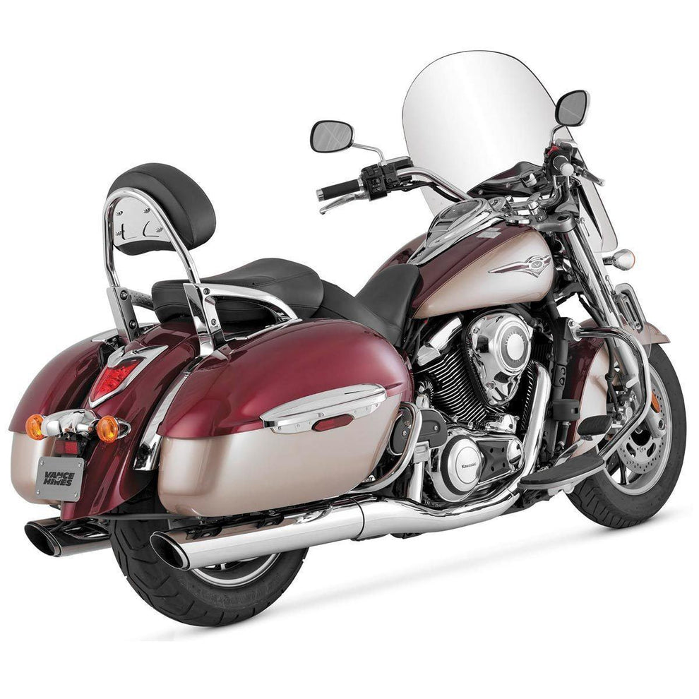Vance and Hines Twin Slash Round Slip-On Exhaust for Kawasaki 2009-13 Nomad models