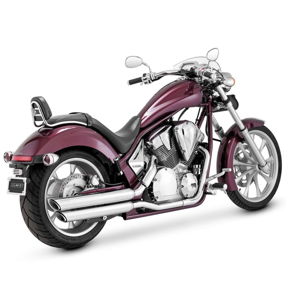 Vance and Hines Twin Slash Power Chamber Equipped Chrome Slip-On Exhaust for Honda 2009-14 Fury models