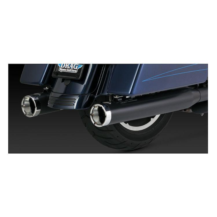 Vance and Hines Monster Round 4in. Slip-On Exhaust for Harley Davidson 1995-2015 Touring models
