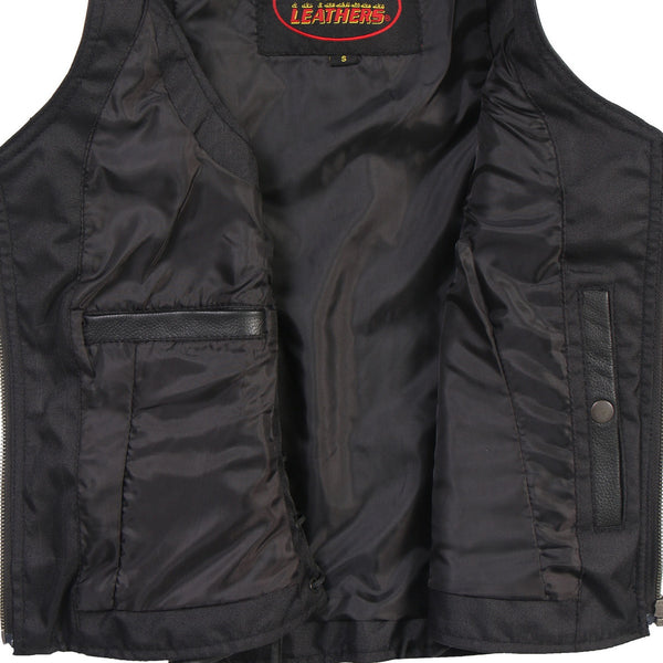Hot Leathers VSL1013 Ladies Side Lace Zip Up Leather Vest - Hot Leathers Ladies Vest