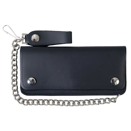 Hot Leathers WLC2002 5 Pocket Bi-Fold Leather Wallet with Chain - Hot Leathers Wallets