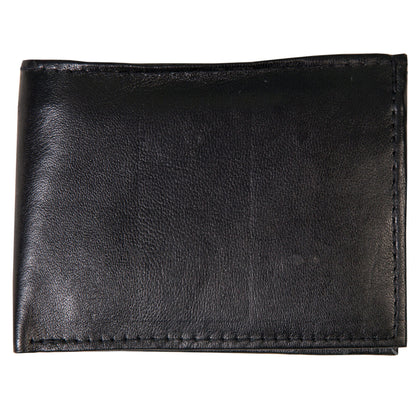 Hot Leathers WLD1001 Black Leather Bi-Fold Wallet - Hot Leathers Wallets