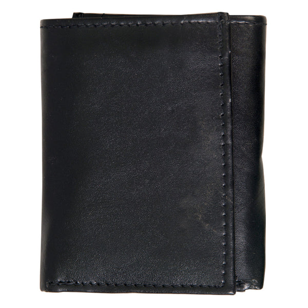 Hot Leathers WLD1011 Black Leather Tri-Fold Wallet - Hot Leathers Wallets