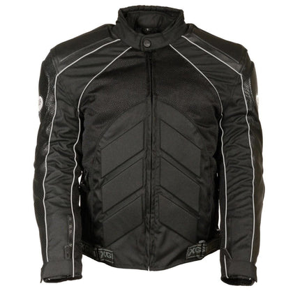 Milwaukee Leather SH2153 Men's Combo Black Armored Leather/Textile/Mesh Jacket