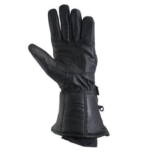 7f12d128d790f Xelement XG1227 'Gauntlet' Men's Black Leather Gloves with Rain Cover and Long  Cuff