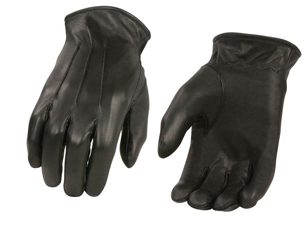 Men's XG2056 Black Winter Biker Leather Motorcycle Riding Gloves - Genuine Leather Men's Leather Gloves