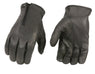 Xelement XG37531 Men's Black Unlined Leather Gloves with Zipper Closure