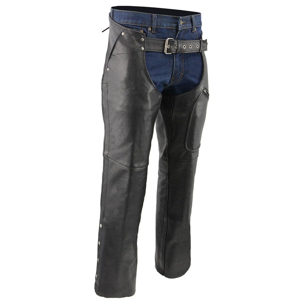 Distressed brown leather riding chap | Riding chaps