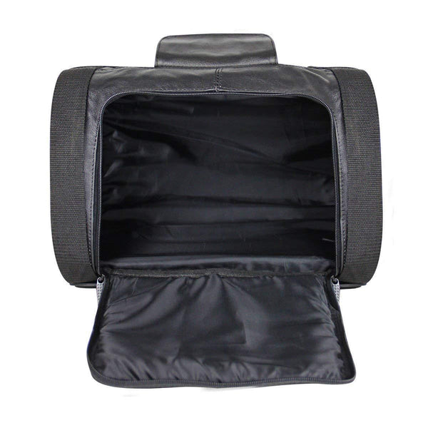 Xelement XS535 'Expedition' Leather Sissy Bar Roll Bag - Xelement Luggage