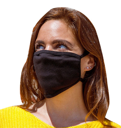 Xelement XS8003 (Multi-Pack) 'Black' USA Made 100 % Cotton Protective Face Mask