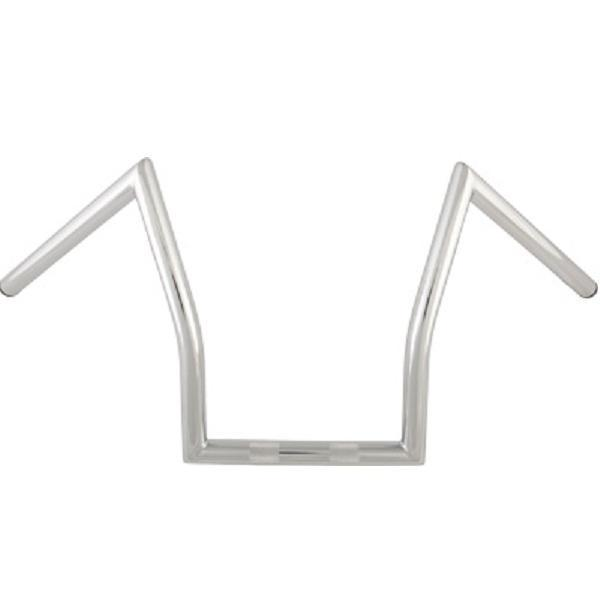 HardDrive 1 in. 'Z' Chrome Handlebars 11 in. Height for Harley-Davidson 1981-Earlier All models - N/A