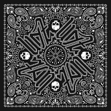 Zan Headgear Unisex Adult Deluxe Polyester Bandanna with Black Paisley Graphics