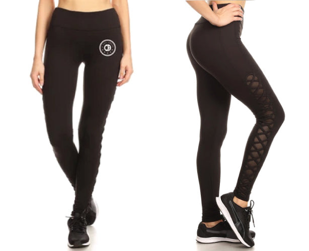 A Cut Above Ladies Active Leggings (Black)