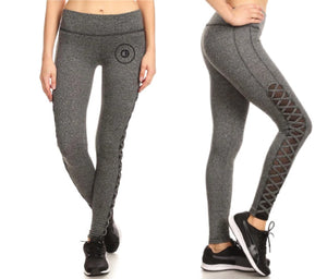 A Cut Above Ladies Active Leggings (Gray)