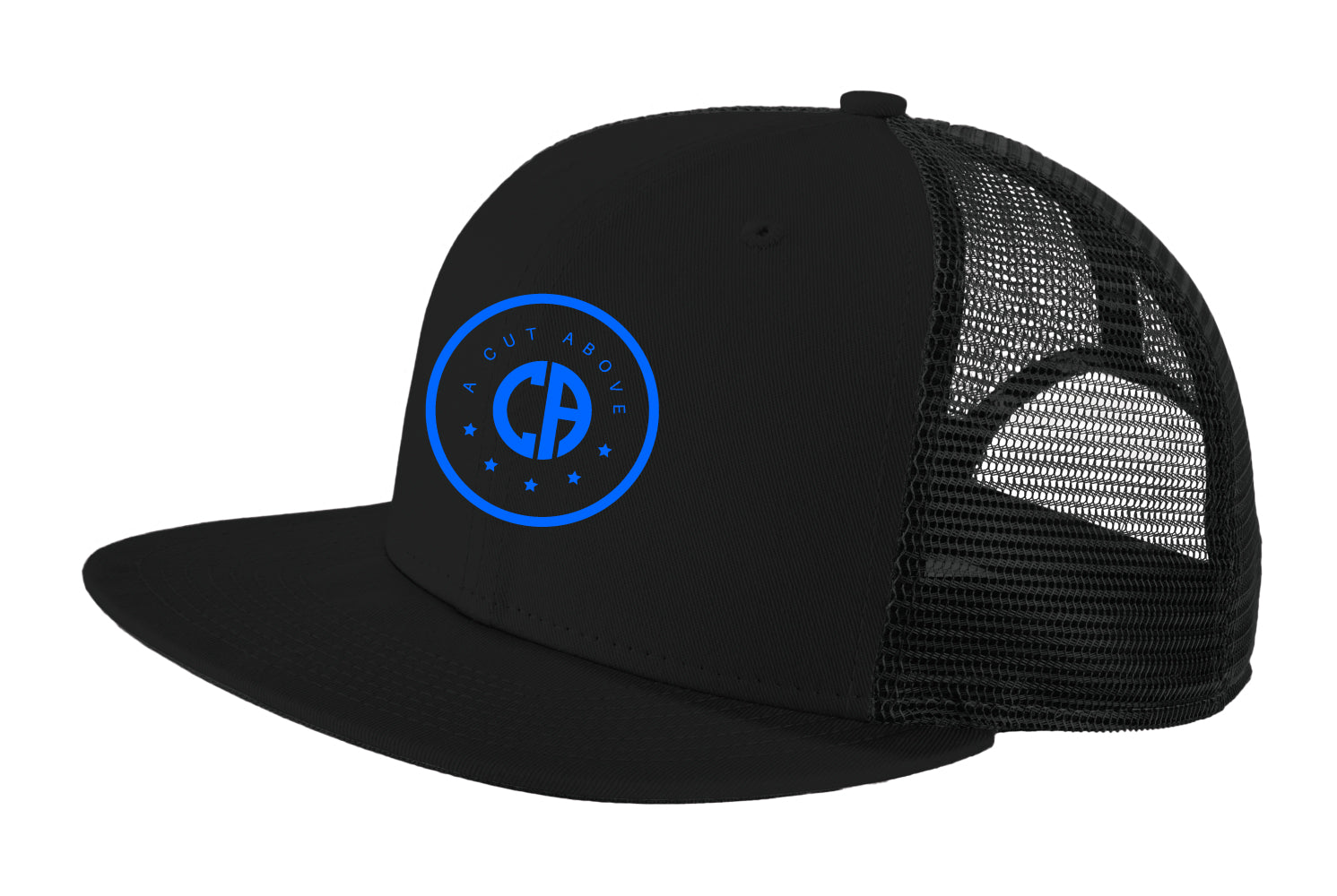 A Cut Above Dreamchaser Snapback Hat (Black w/ Blue)