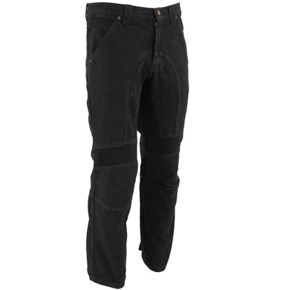 Xelement 055030 Classic Fit Black Men's Denim Motorcycle Racing Pants with X-Armor