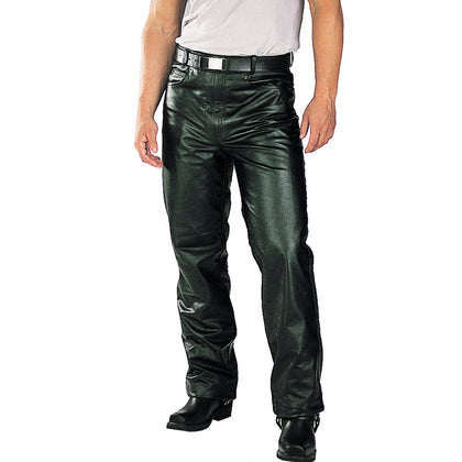 Xelement B7400 'Classic' Black Men's Fitted Leather Pants