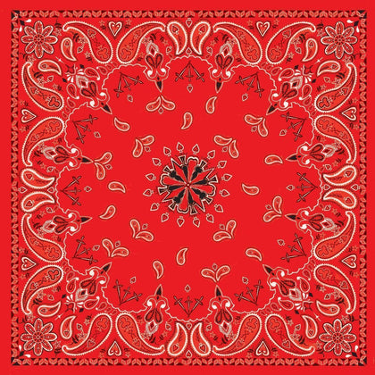 Zan Headgear B003 100 % Cotton Red Paisley Bandanna